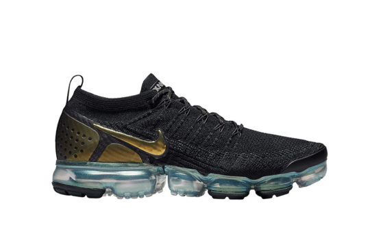 Nike Air VaporMax Flyknit 2.0 Black Gold 942842-015