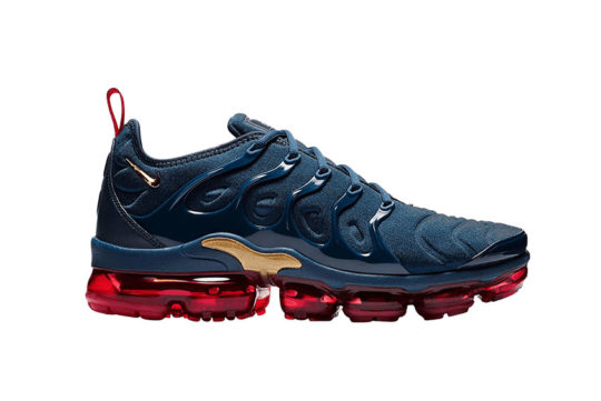 Nike Air VaporMax Plus Navy Gold 924453-405