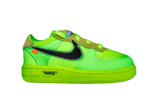 Off-White Nike Air Force 1 Low Toddler Volt bv0853-001