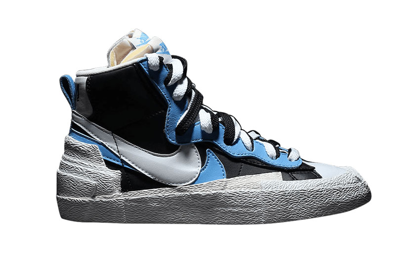 The Air Force >> Sacai x Nike Blazer University Blue : Release date, Price & Info