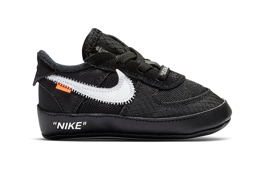 Off-White x Nike Air Force 1 Low Toddler Black bv0854-001