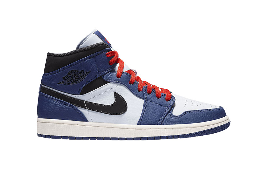 Jordan 1 Mid Deep Royal Blue 852542-400
