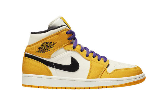 Jordan 1 Mid Lakers 852542-700
