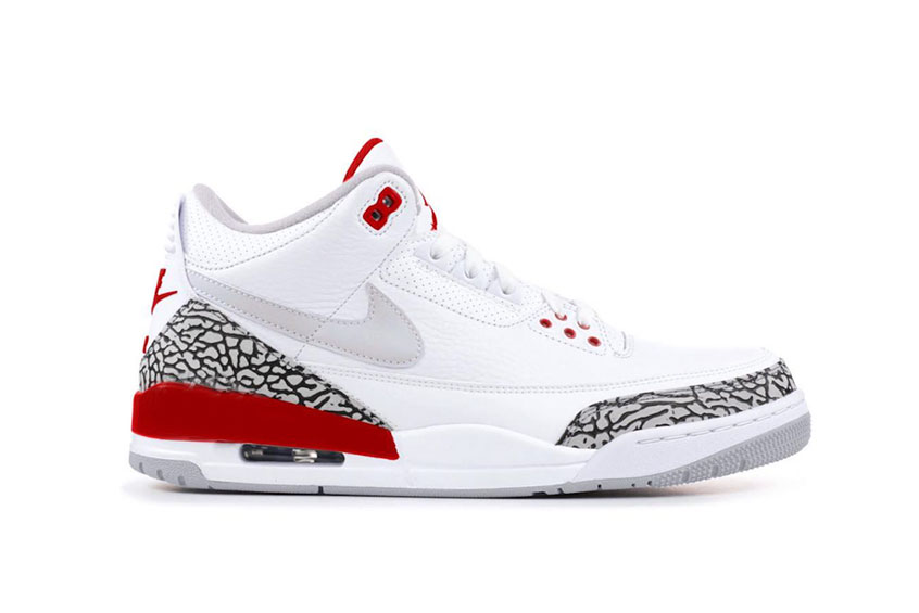Air Jordan 3 Tinker White University Red cj0939-100