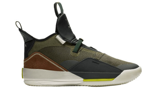 Travis Scott x Air Jordan 33 « Army Olive » cd5965-300