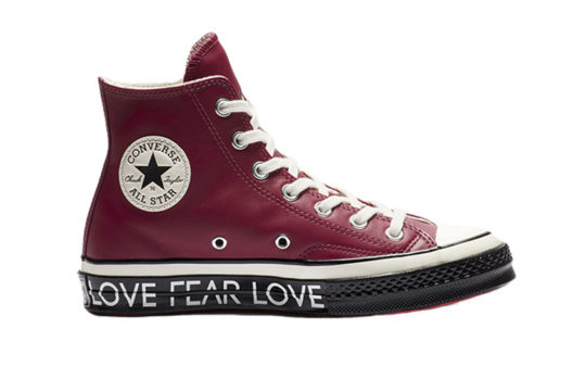 Converse Chuck 70 Love Graphic High Top Egret Black 563472c