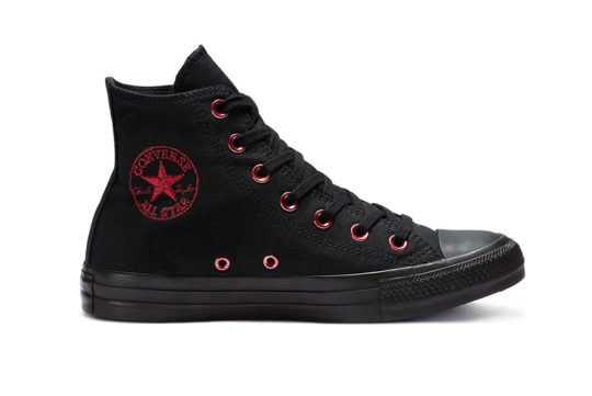 Converse Chuck Taylor All Star Hearts High Top Black 163286c