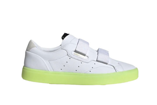 adidas Sleek Straps 'White Yellow' ee8279