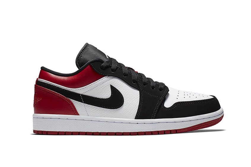 Jordan 1 Low Black Toe 553558-116