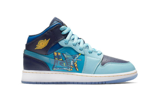 Jordan 1 Mid Fly Blue bv7446-400
