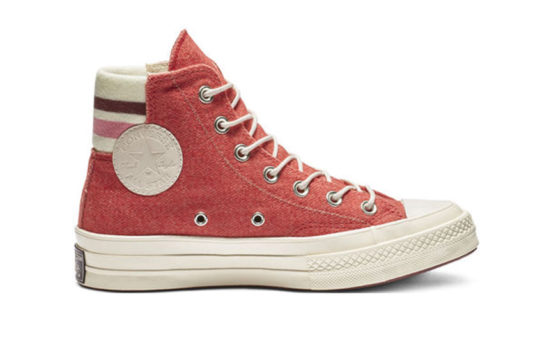 Converse Chuck 70 Retro Stripe High Top Red Pink 163367c