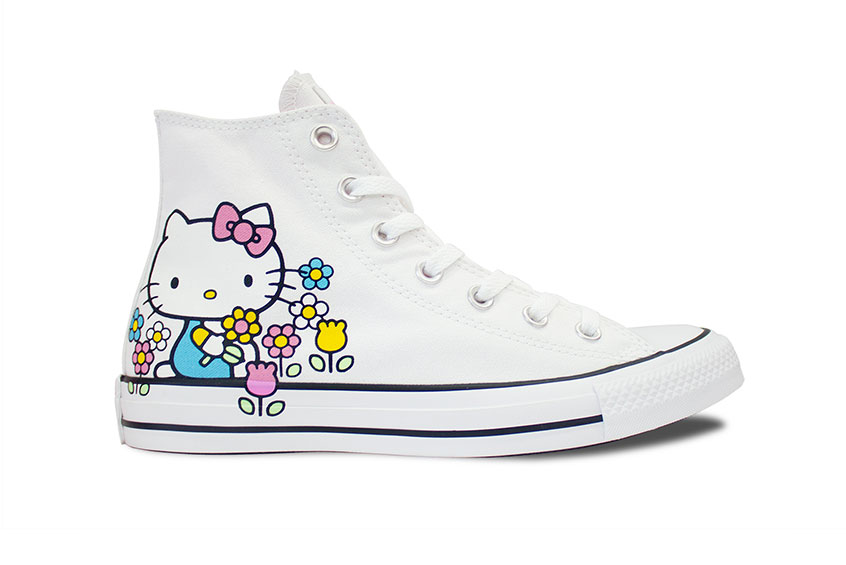 Perseo Deshacer Buen sentimiento  Converse x Hello Kitty Chuck Taylor All Star High-Top White : Release date,  Price & Info