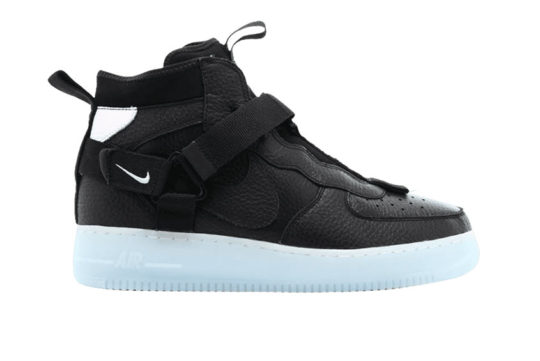 Nike Air Force 1 Utility Mid Black « Half Blue » aq9758-001