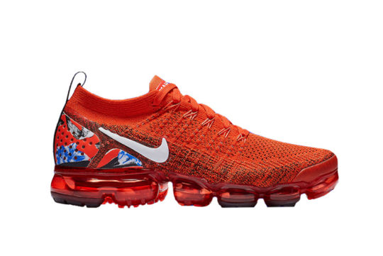Nike Air VaporMax Flyknit 2 Red Blue bv6126-800