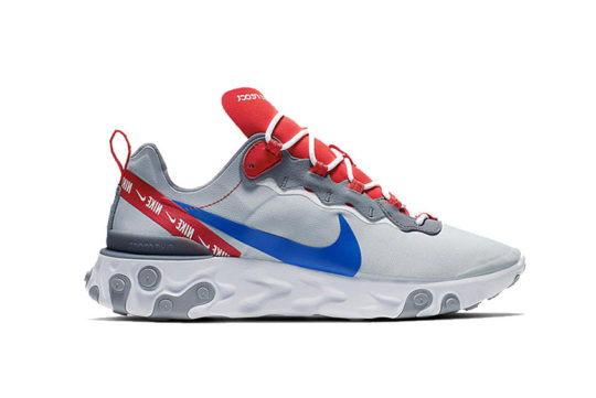 Nike React Element 55 – Grey Royal Red cd7340-001