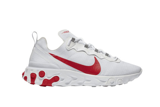 Nike React Element 55 White Red bq6167-102