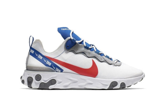 Nike React Element 55 – White Royal Red cd7340-100