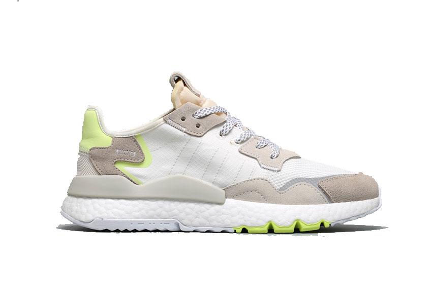 adidas Nite Jogger White Yellow Womens cg6098