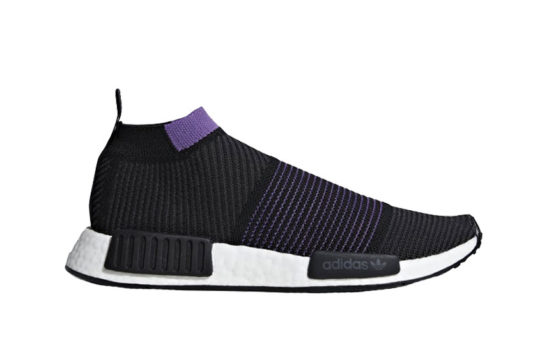 adidas NMD CS1 Primeknit Black Purple g28196