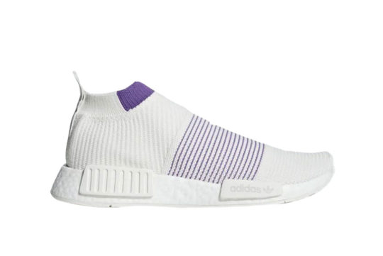 adidas NMD CS1 Primeknit White Purple cm8496
