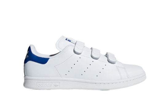 adidas Stan Smith Velcro White Blue s80042
