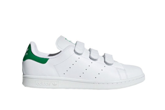 adidas Stan Smith Velcro White Green s75187