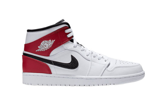 Jordan 1 Mid White Red 554724-116