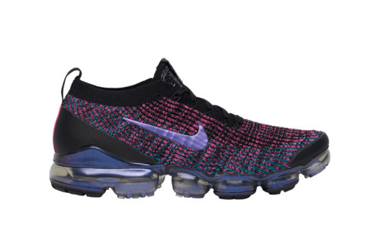 Nike Air VaporMax Flyknit 3 Black Purple aj6900-007