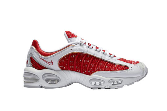 Supreme x Nike Air Max Tailwind IV White Red at3854-100