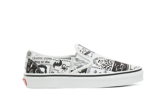 Vans Classic Slip On x Ashley Williams Newspaper vn0a38f7sfq
