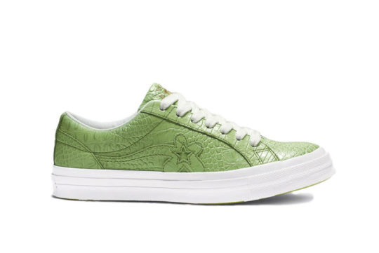 Converse One Star Ox x Golf Le Fleur Faux Skin Green 165525c