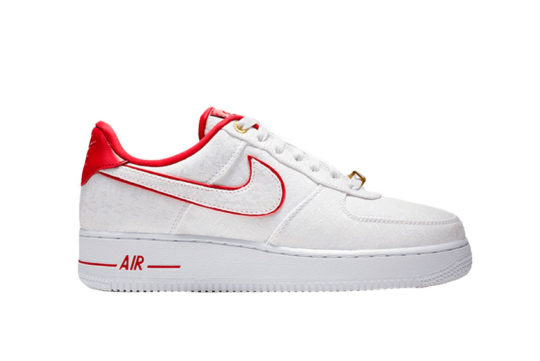 Nike Air Force 1 07 Lux White Red Womens 898889-101