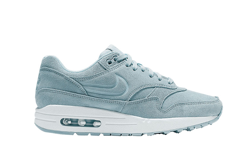 Nike Air Max 1 Turquoise Suede Womens