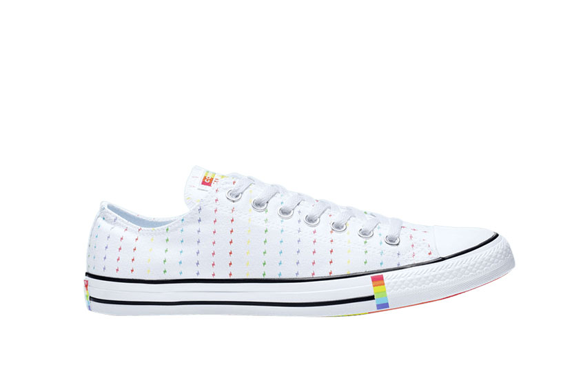 Converse All Star Low Top Pride White 165717c