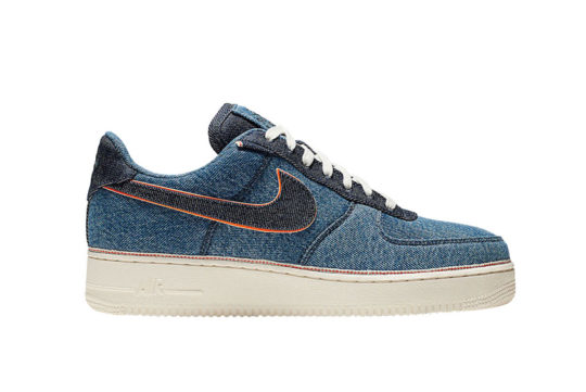 3×1 Nike Air Force 1 Low Strapped Blue 905345-403