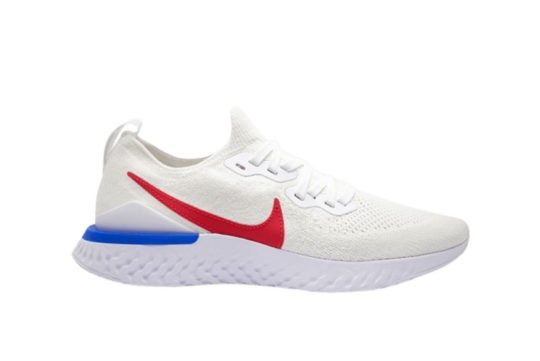 Nike Epic React Flyknit 2 White Red cj8295-100