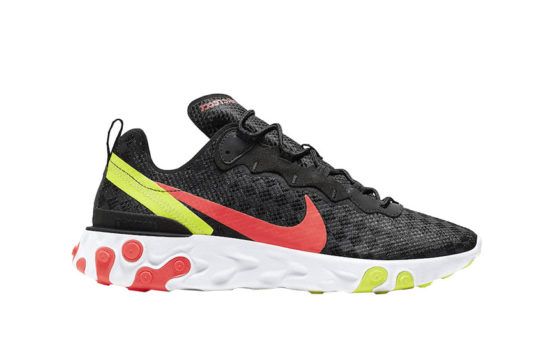 Nike React Element 55 – Black Crimson Volt cj0782-001