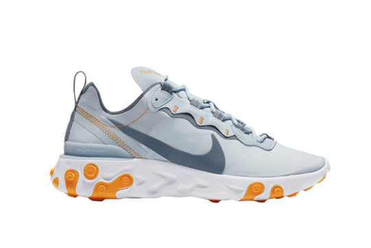 Nike React Element 55 Grey Orange Womens bq2728-400