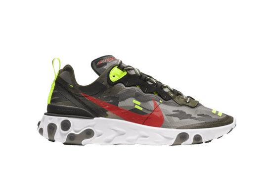 Nike React Element 87 Camo Black cj4988-200