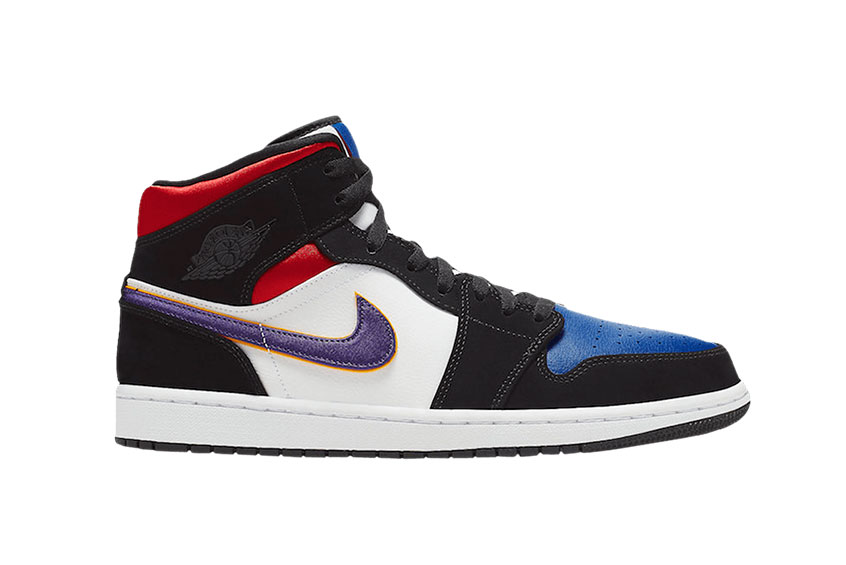 Jordan 1 Mid Purple White Red 852542-005