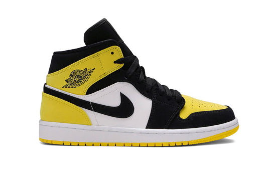 Jordan 1 Mid Yellow Toe Footasylum Exclusive 852542-071