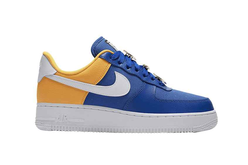 Nike Air Force 1 07 Blue Yellow