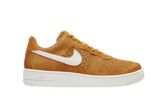 Nike Air Force 1 Flyknit 2.0 Gold Suede ci0051-700