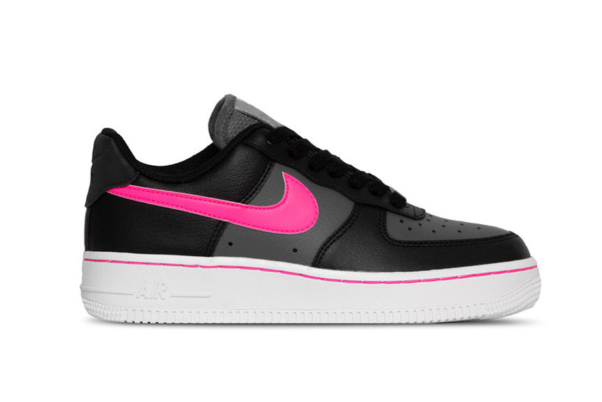 nike air force black and pink