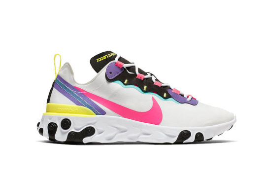 Nike React Element 55 Psychic Purple Hyper Pink ck0846-100