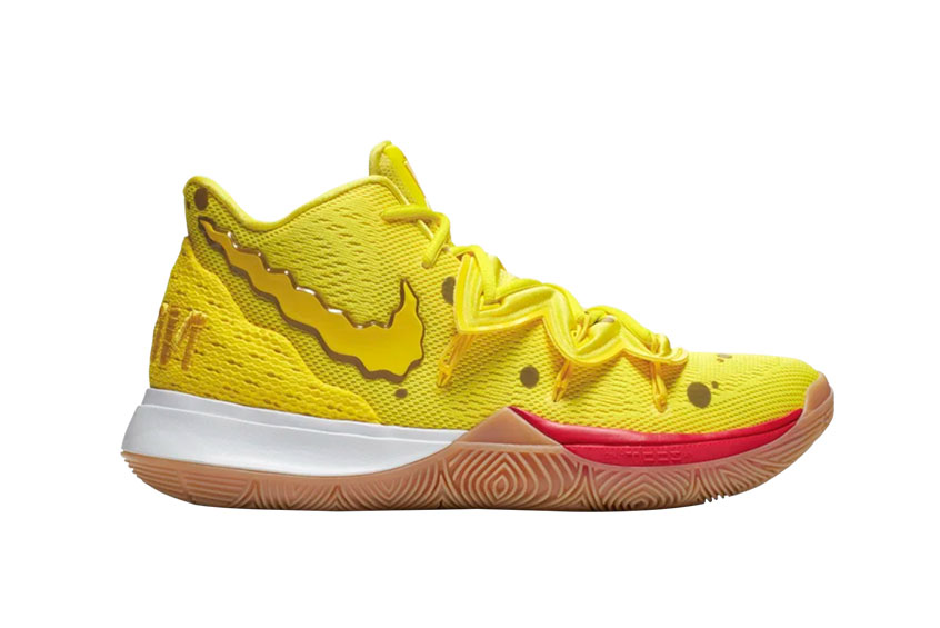SpongeBob SquarePants Nike Kyrie 5 Yellow cj6951-700