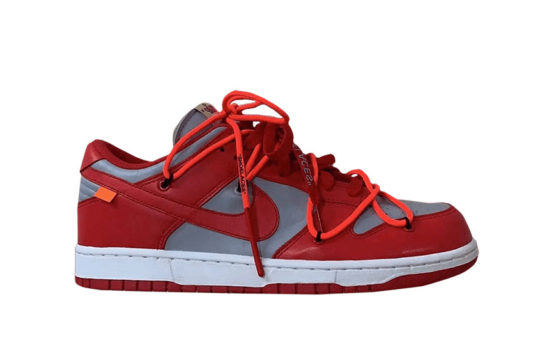 Off-White x Nike Dunk Low Red Grey ct0856-600