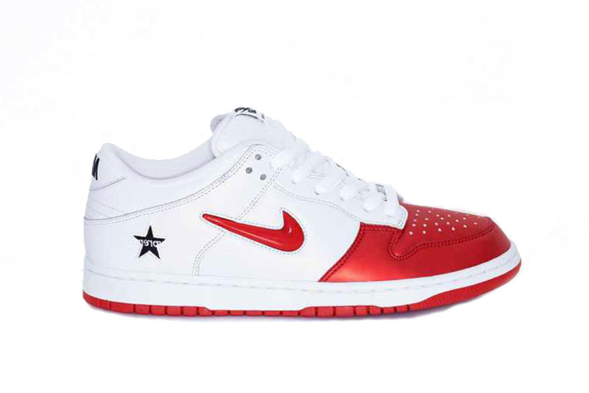 Supreme x Nike SB Dunk Low Red White ck3480-600