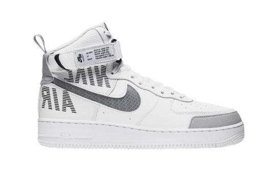 Nike Air Force 1 High White Grey cq0449-100