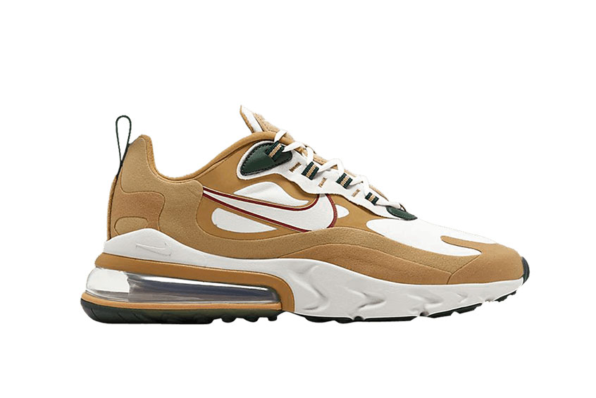 Nike Air Max 270 React Gold Light Bone ao4971-700
